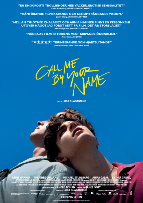 Omslag till filmen: Call Me by Your Name